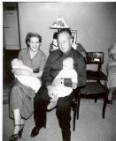 1953 25th Wed Ann Opal holding Larry Charlie holding David.bmp